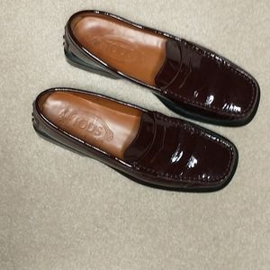Tod's Patent Driving Loafers